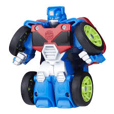 Playskool Heroes Transformers Rescue Bots Flip Racers Optimus Prime ...