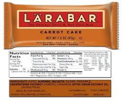 Larabar Nutrition Calorie Information