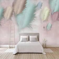 custom foto tapete 3d mode feder moderne wandbild wohnzimmer schlafzimmer romantische wohnkultur wand papiere papel de parede 3 d
