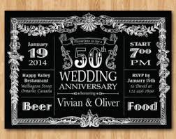 Chalkboard 50th Wedding Anniversary Invitation Milestone 10th 20th 30th 40th 60th Any Year