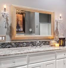 Mini Chandelier Over Bathtub by Bathroom Cabinets Mini Crystal Chandelier Over White Oval