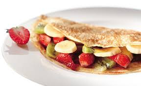 crepes mit obst