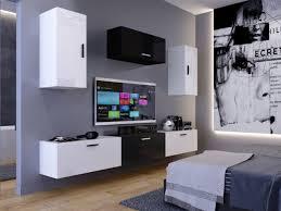 moderne wohnwand dublin nx 25 hochglanz wohnzimmer klein ebay
