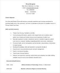 Sample Final Year Nursing Student Resume