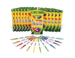 Crayola Bathtub Crayons 18 Vibrant Colors by Amazon Com Crayola Bulk Erasable Colored Pencils Classpack 12