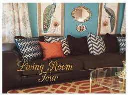 Brown And Teal Living Room by My Very Teal Living Room Tour Youtube