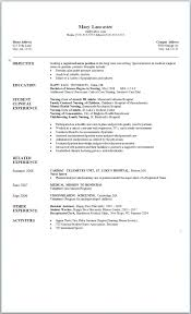 Nursing Student Resume Samples Sample New Graduate Nurse Graduating