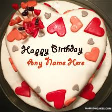 Lovely Decorated Birthday Cake For Lover With Name