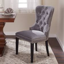 Shop Abbyson Versailles Grey Tufted Dining Chair - Free Shipping ... Zipcode Design Alesha Side Chair Reviews Wayfair Baxton Studio Reneau Modern And Contemporary Gray Fabric Three Posts Kallas Upholstered Ding John Thomas Windsor From 9900 By Danco Chairs The Home Depot Canada Cheap Kid Wood Table And Set Find Dcg Stores Buy Espresso Finish Kitchen Room Sets Online At Overstock Michelle 2pack Shop Nyomi Of 2 Christopher Knight Creggan Joss Main