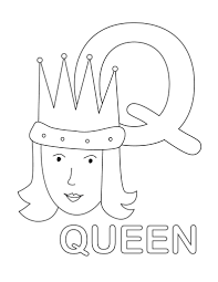 Letter Q Coloring Pages Is For Queen Bee Page