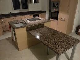 plan cuisine granit plan de travail avec table de cuisine en granit valence stéphane
