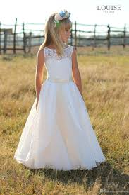 cheap elegant full lace flower dresses 2017 junior bridesmaid