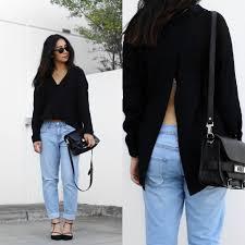 kristy wu nobody denim beau jeans mlm open back shirt classic