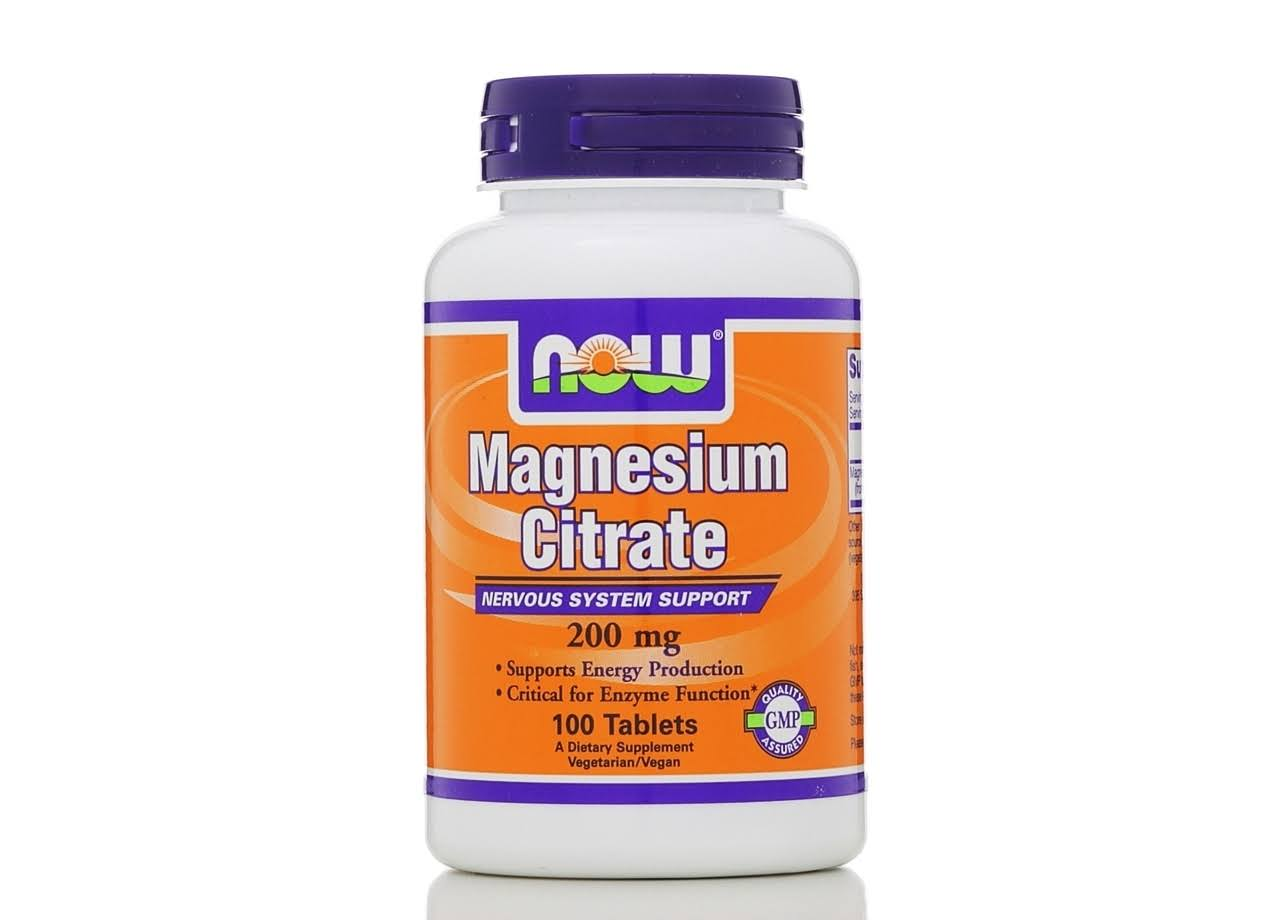 NOW Foods Magnesium Citrate - 100 Tablets