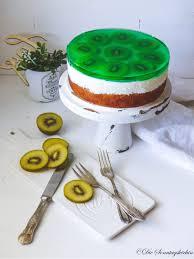 kiwi quark torte mit götterspeise