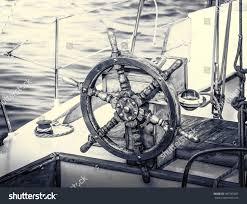 Sailboat Wheel Wall Decor by Vintage Yacht Retro Style Steering Wheel Stock Photo 405185851