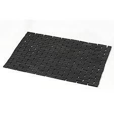 schwarze bambus badematten für badezimmer vielseitig verwendbar für sauna badewanne badezimmer duschtüren und strukturierte böden größe 59 9 x