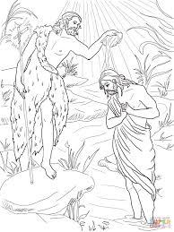 Click The John Baptist Baptizing Jesus Coloring Pages