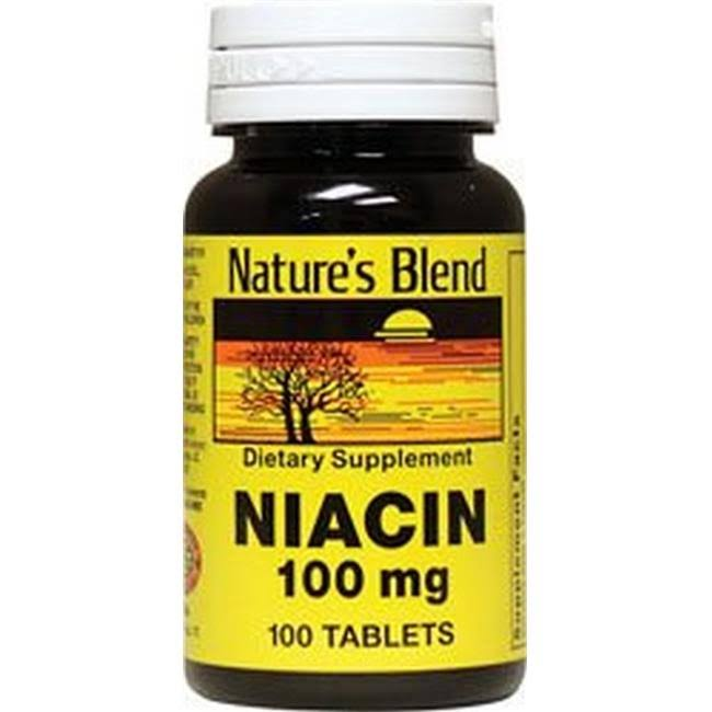 Nature's Blend Niacin Supplement - 100mg, 100 Tablets