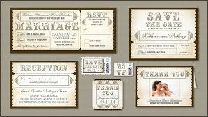 Vintage Typography Wedding Invitations And Rsvp