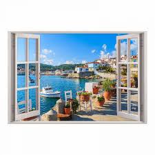 154 wandtattoo fenster mediterran mittelmeer toskana in 5 größen wandbild wohnzimmer schlafzimmer küche esszimmer wanddeko