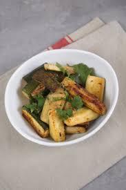 cuisine coriandre courgettes sautées à la moutarde cumin et coriandre fraiche