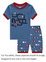 Family Feeling Truck Little Boys Short Sleeve Pajamas Sets 100 ...
