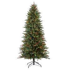 7 1 2 Ft Pre Lit Fraser Fir Pencil Artificial Christmas Tree 350