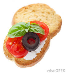 what does canape what are the courses in a dinner with pictures