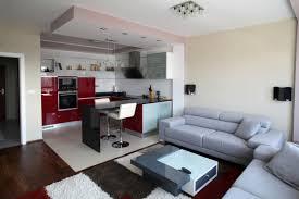 InteriorModern Apartment Living Interior Design With Unique Black White Carpet Decorating Idea Contemporary Minimalist