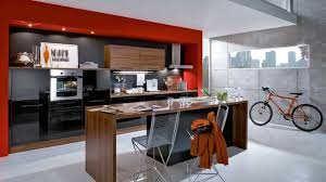 cuisine orange et noir stunning cuisine noir contemporary design trends 2017