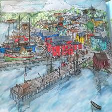 My Interpretation Of Lunenburg Nova Scotia Canada From Fantastic Cities Steve McDonald ScotiaColouring PagesColoring BooksMindful