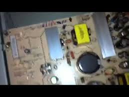 broken lg lcd tv capacitor black screen my wont turn on