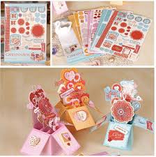 Creative DIY Handmade Valentine Pop Up Box Card Making Kit Birthday