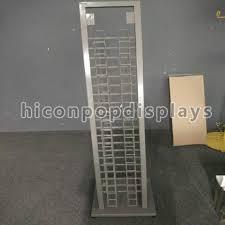 20 layer steel tile display racks free standing surface finishing