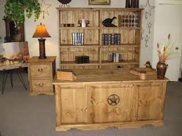 Rustic Unfinished Desk Set