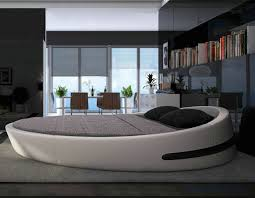 Modern Hot Sale Genuine Leather Round Bed B71 [B71] $1 250