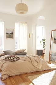 Lovely Light And Airy Bedroom I Love The High Ceilings Floor Mirror Etc