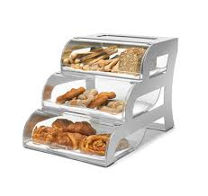 RossetoR Three Tier Clear Acrylic Bakery Display Case With Stainless Steel Stand BK010