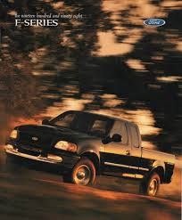 1998 F-Series Ford Truck Sales Brochure 21999 Ford F1f250 Super Cab Rear Bench Seat With Separate 1975 F250 Ignition Wiring Diagram Complete Diagrams 1999 Duty Fseries Truck Sales Brochure F150 Alternator Services Tenth Generation Wikipedia Dark Hunter Green Metallic Xl Extended Trucks V10 For Sale Genuine Ford Svt Lightning Review Rnr Automotive Blog Bangshiftcom 2006 Turn Signal Data