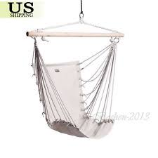 Hanging Chair Indoor Ebay by Patio Hammock Chair W Wood Stretcher Outdoor Cradle Garden Swing