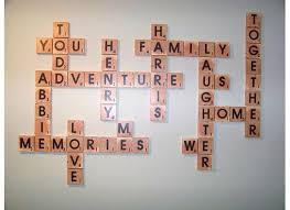 remodelaholic scrabble living large family names art project