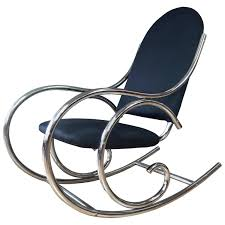 Curvaceous Upholstered Chrome Rocking Chair In The Style Of Thonet ... Vintage Bentwood Rocking Chair Makeover Zitaville Home Thonet Antique Rocker Chairish Art Nouveau Antique Bentwood Solid Beech Cane Rocking For Sale French Salvoweb Uk At 1st Sight Products Mid Century Antique Thonet Type Bentwood Rocking Chaireither A Salesman Sample Worldantiquenet Style Old Rare Chair Even Before The Ninetehcentury Leather By Interior Gebruder Number 7025 Michael Glider Chairs For Sale 28 Images
