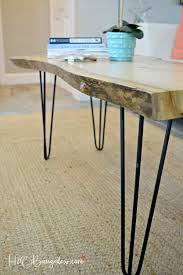 Diy Simple Wooden Desk by Hairpin Leg Diy Live Edge Wood Coffee Table H20bungalow