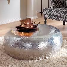 couchtisch silber wohnzimmertisch loungetisch sofatisch beistelltisch