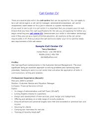 Sample Resume For Call Center Jobs Bongdaao Example