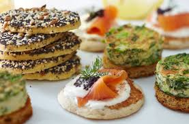 canape recipes gluten free blinis with smoked salmon tesco food