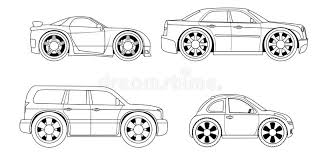 Download Coloring Book Stylized Cars Set Stock Vector