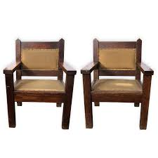 Set Of 2 Antique Arts & Crafts Oak Bishop Throne Chairs   Etsy Stickley Chair Used Fniture For Sale 52 Tips Limbert Mission Oak Taboret Table Arts Crafts Roycroft Original Arts And Crafts Mission Rocker Added To Top Ssr Rocker W901 Joenevo Antique Rocking Chair W100 Living Room Page 4 Ontariaeu By 1910s Vintage Original Grove Park Inn Rockers For Chairs The Roycrofters Little Journeys Magazine Pedestal Collection Fniture