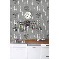 papier peint cuisine gris papier peint organic food gris papier cuisine et bain leroy merlin